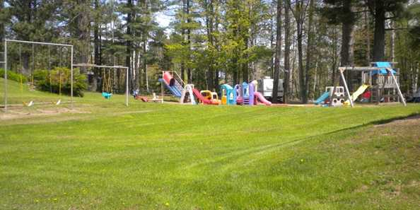 Playground at Birkensee Campground
